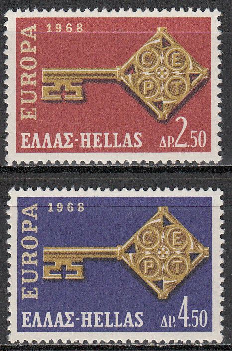 Greece Scott 0916-917, MNH, Europa 1968, set of 2