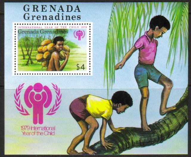 GRENADA Grenadines Scott 322, MNH,  large S/S, 1979 Year of Chil