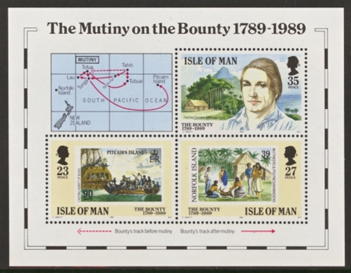 Isle of Man MNH Scott 394-394, 1989 The Buonty special Souvenir