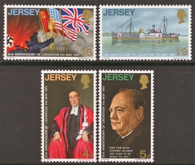 Jersey Scott 0026-0029, MNH, 1970 Liberation
