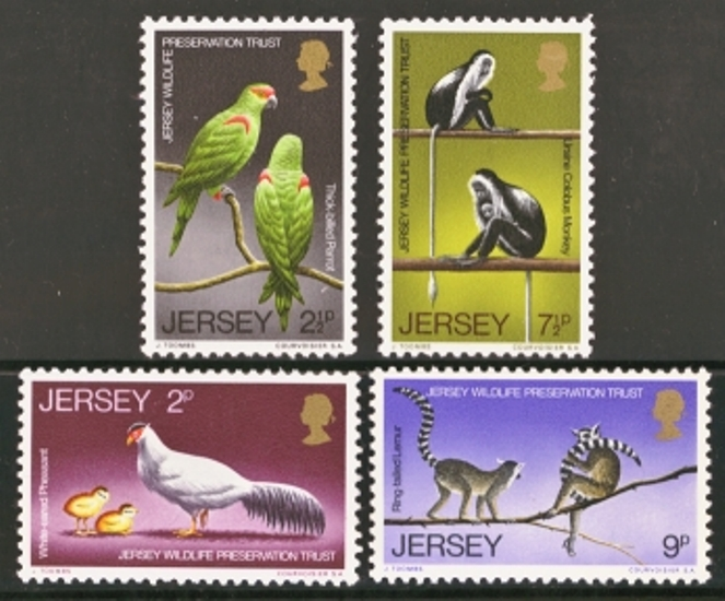 Jersey Scott 0049-0052, MNH, 1971 Wildlife, set of 4