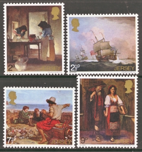 Jersey Scott 0057-0060, MNH, 1971 Paintings, set of 4
