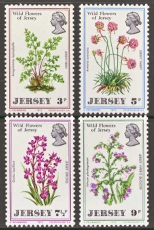 Jersey Scott 0061-0064, MNH, 1972 Wild Flowers, set of 4