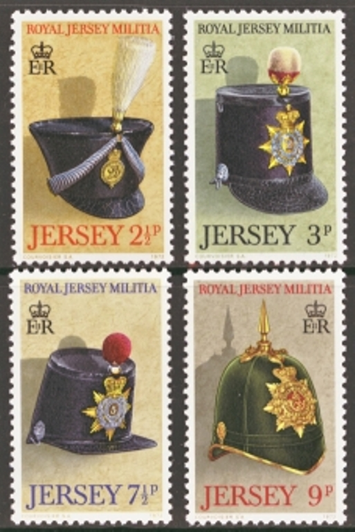 Jersey Scott 0069-0072, MNH, 1972 Royal Militia, set of 4