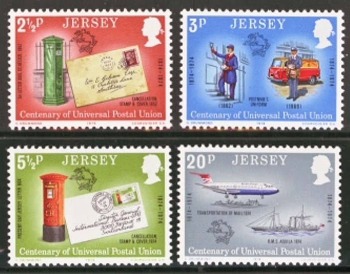 Jersey Scott 0099-0102, MNH, 1974 UPS set of 4