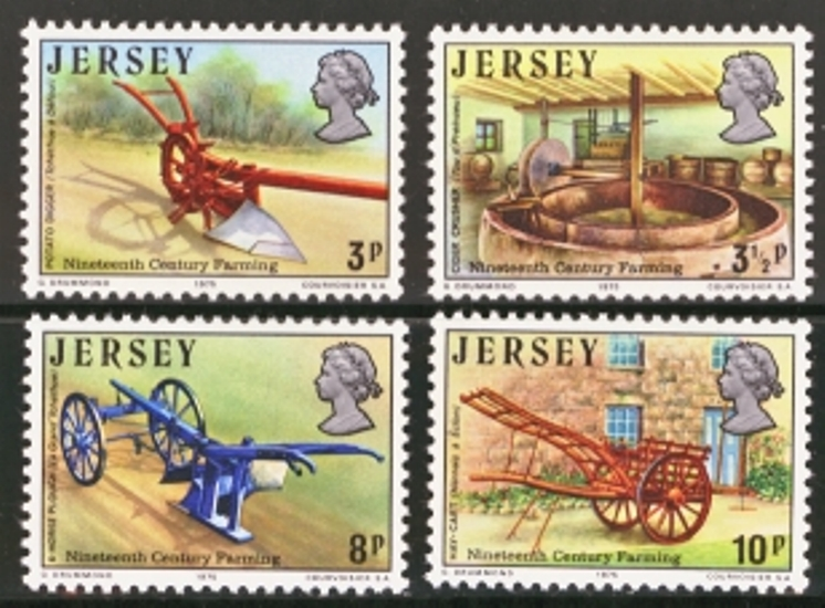 Jersey Scott 0120-0123, MNH, 1975 Farmaing set of 4