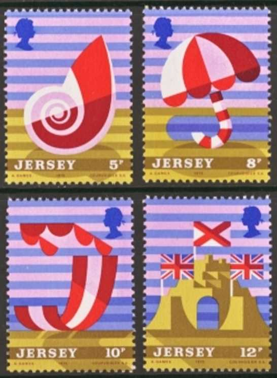 Jersey Scott 0124-0127, MNH, 1975 tourism set of 4