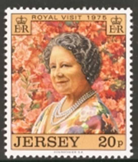 Jersey Scott 0128-0128, MNH, 1974 Royal Visit single stamp