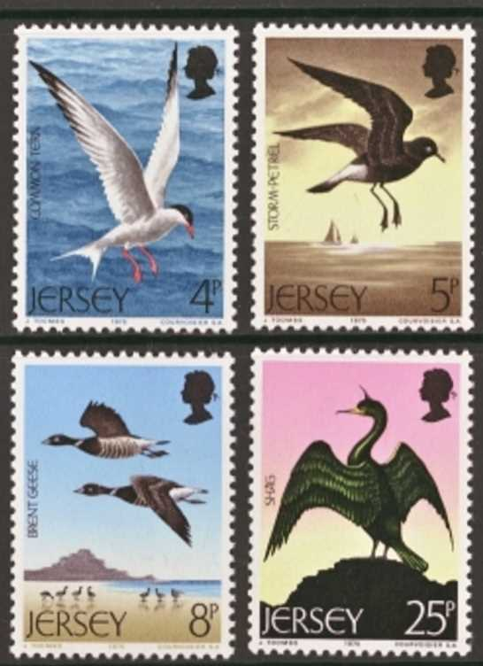 Jersey Scott 0129-0132, MNH, 1975 Birds set of 4