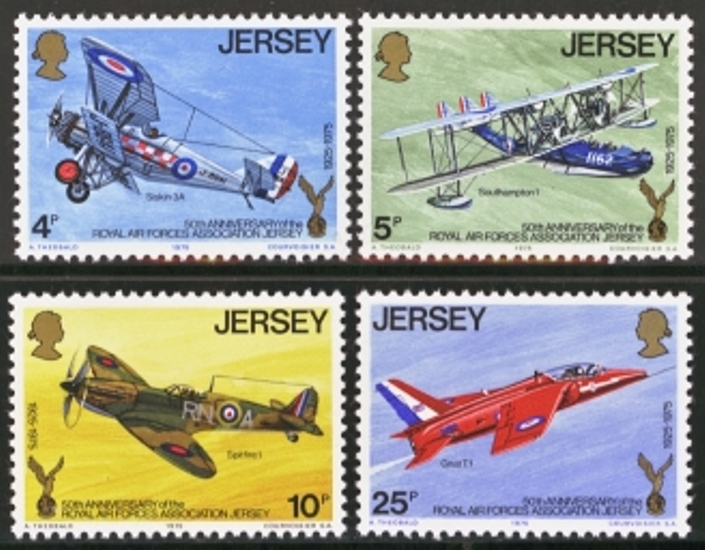 Jersey Scott 0133-0136, MNH, 1975 R.A.F. Set of 4