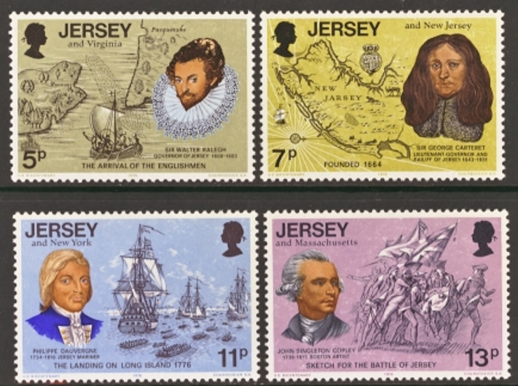 Jersey Scott 0160-0163, MNH, 1976 US Bicentennial, set of 4