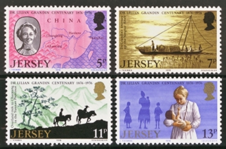 Jersey Scott 0164-0167, MNH, 1976 Grandin, set of 4
