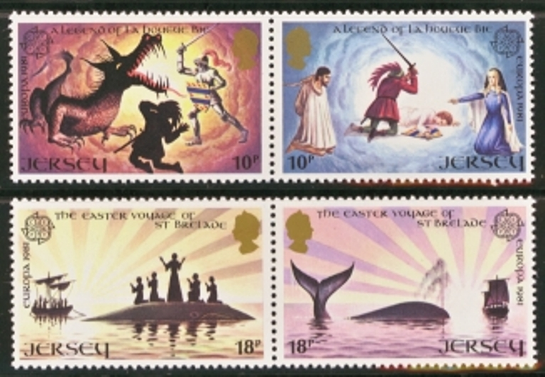Jersey Scott 0271-0274, MNH, 1981 Europa, set of 4