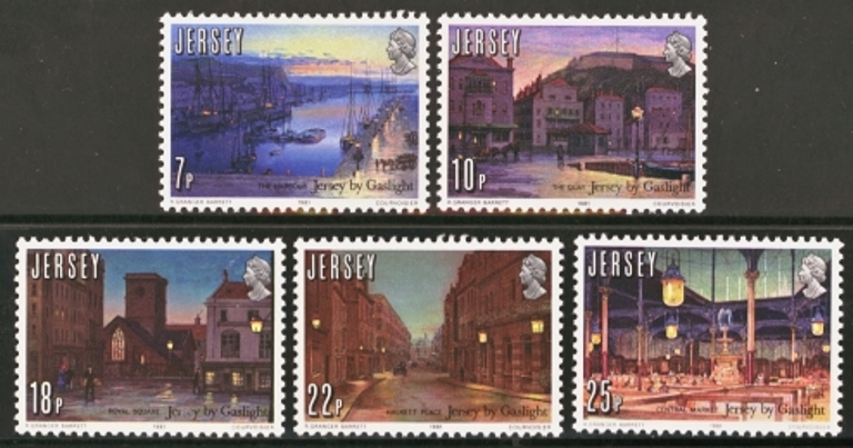 Jersey Scott 0275-0279, MNH, 1981 Gaslight, set of 5