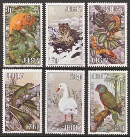 Jersey Scott 0320-0325, MNH, 1984 Wildlife, set of 6