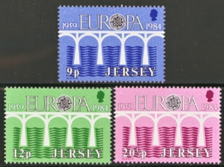 Jersey Scott 0326-0328, MNH, 1984 Europa, set of 3