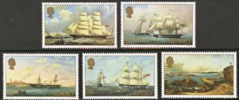 Jersey Scott 0348-0352, MNH, 1985 Paintings, set of 5