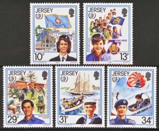 Jersey Scott 0356-0360, MNH, 1985 Youth, set of 5