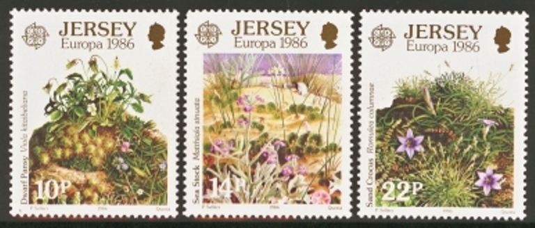 Jersey Scott 0396-0398, MNH, 1986 Europa, set of 3