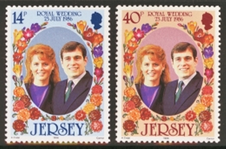 Jersey Scott 0404-0405, MNH, 1986 Royal Wedding, set of 2