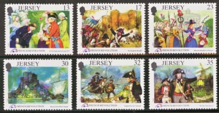 Jersey Scott 0516-0521, MNH, 1989 Revolution, set of 6