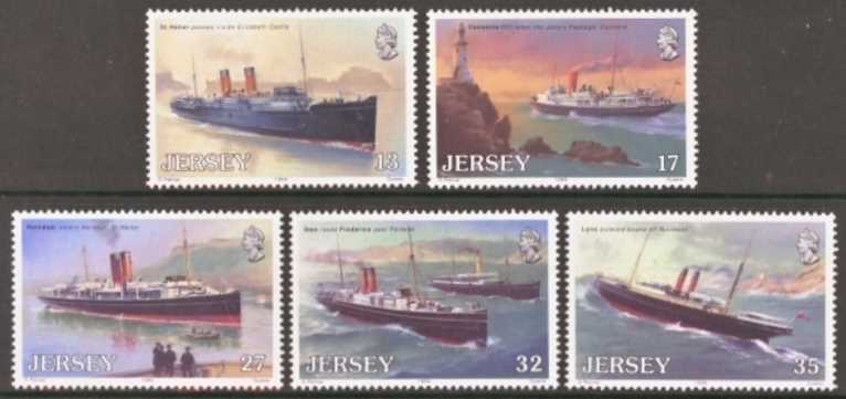 Jersey Scott 0522-0526, MNH, 1989 Steamboats, set of 5