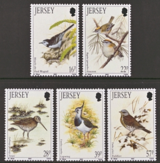 Jersey Scott 0582-0586, MNH, 1992 Birds, set of 5