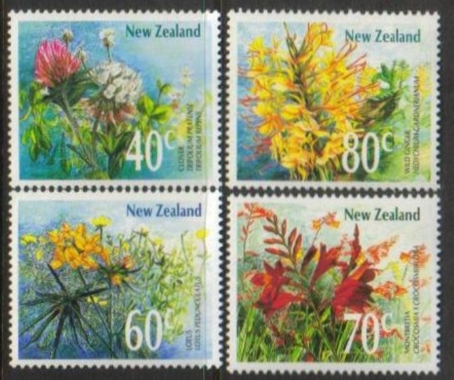 New Zealand Scott 0942-0945, MNH, Wildflowers, set of 4