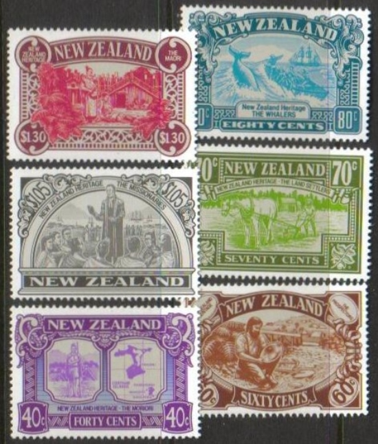 New Zealand Scott 0950-0955, MNH, New Zealand Heritage, complete